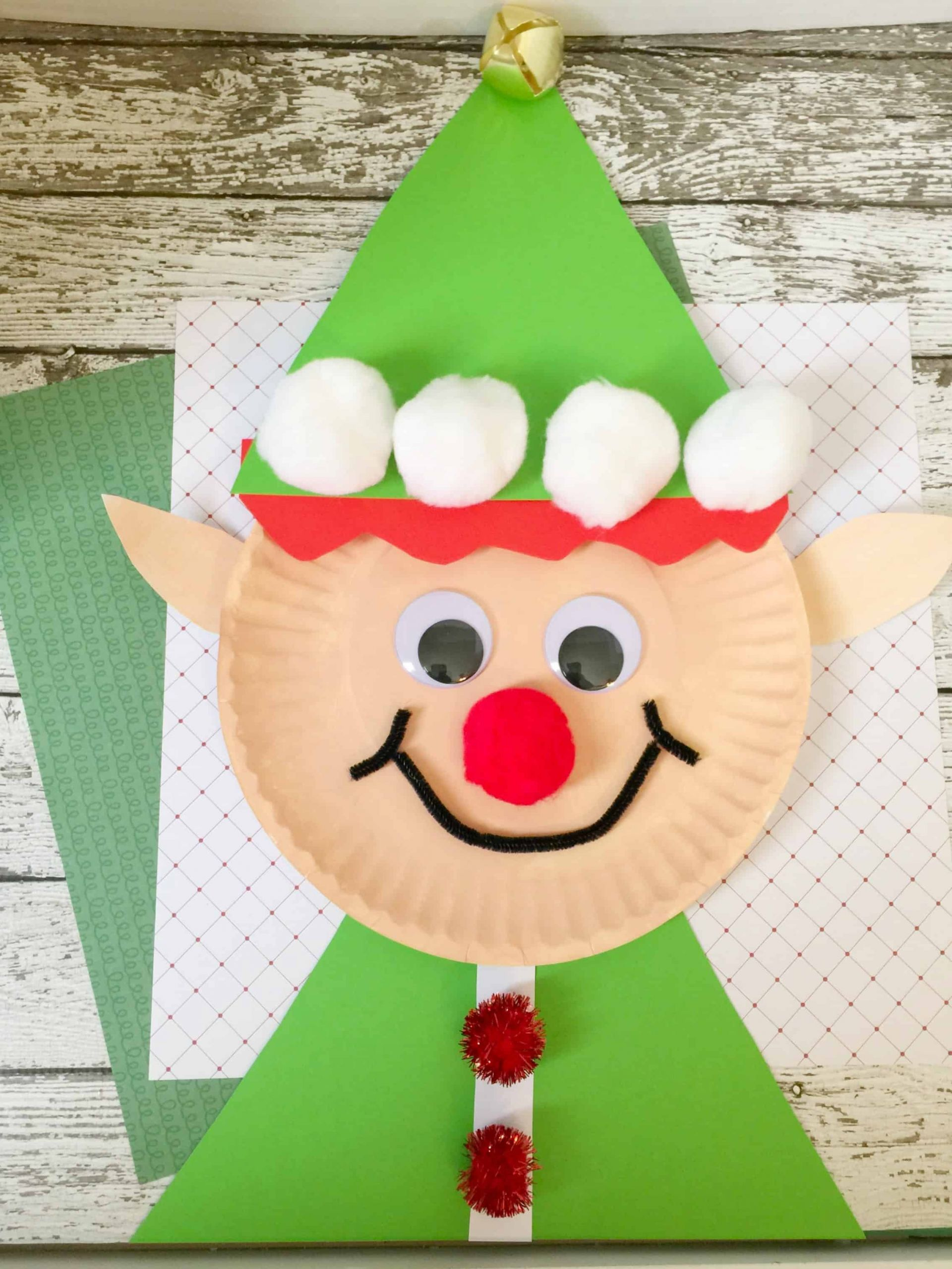 Fun Crafts For Preschoolers  Christmas Elf Paper Plate Craft for Kids