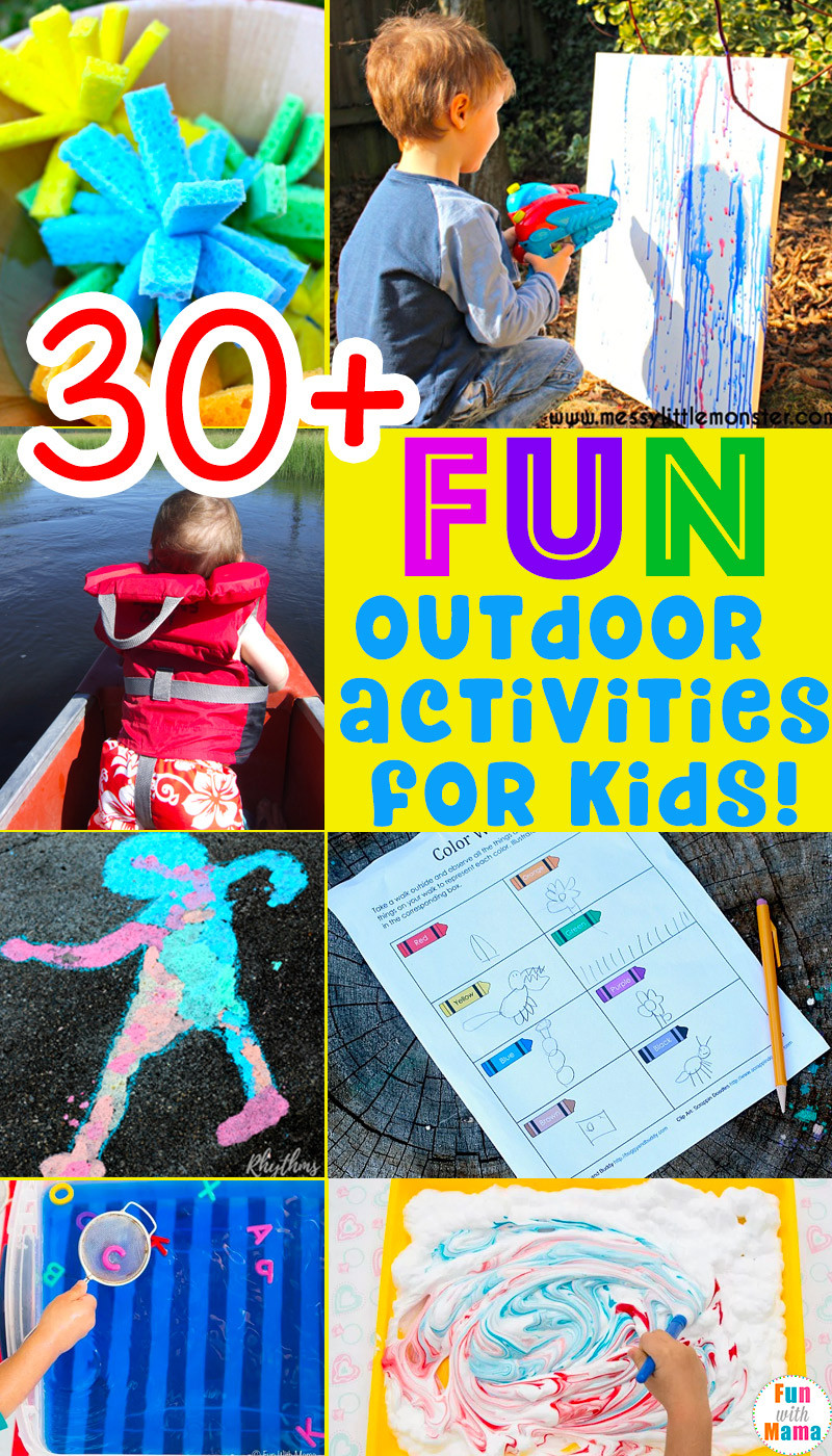 Fun Ideas For Kids  30 Fun MUST DO Outdoor Activities For Kids Fun with Mama