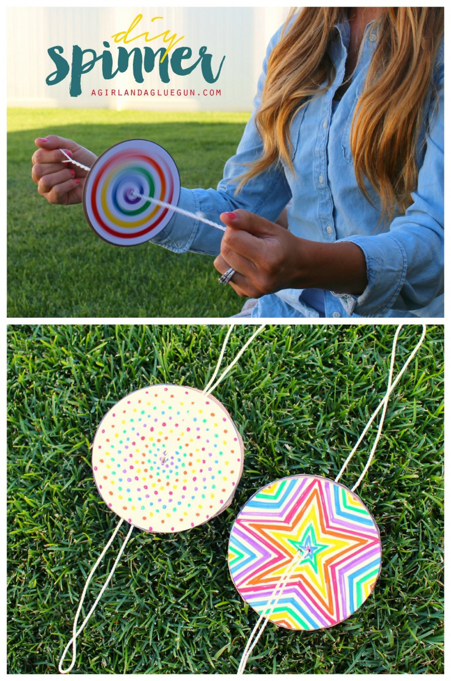 Fun Kids Projects  fun spinners craft for kids to do this summer 900x1359