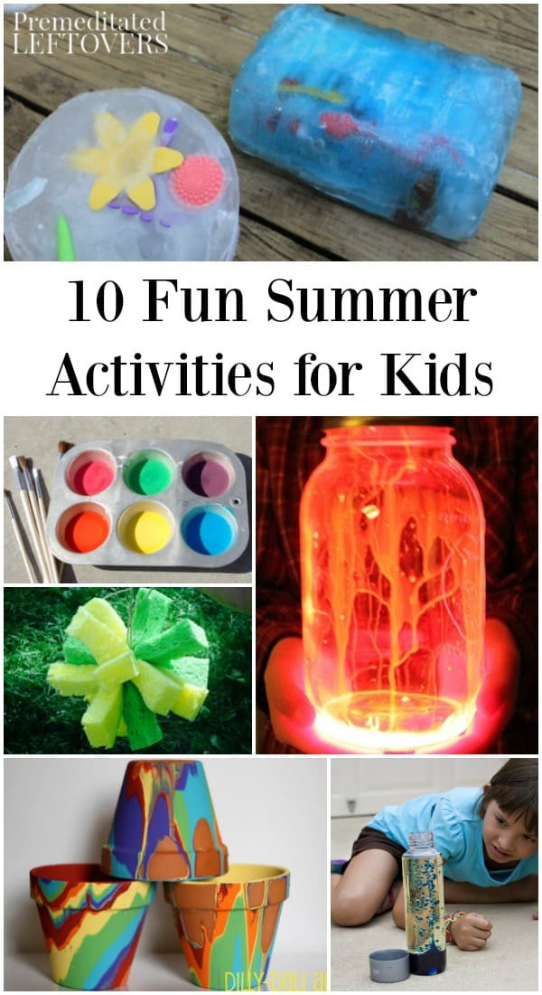 Fun Kids Projects  10 Fun Summer Activities to Do at Home to Keep Kids Busy