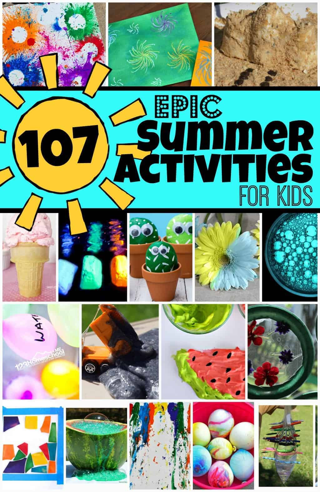 Fun Kids Projects  107 EPIC Summer Activities for Kids to add to your