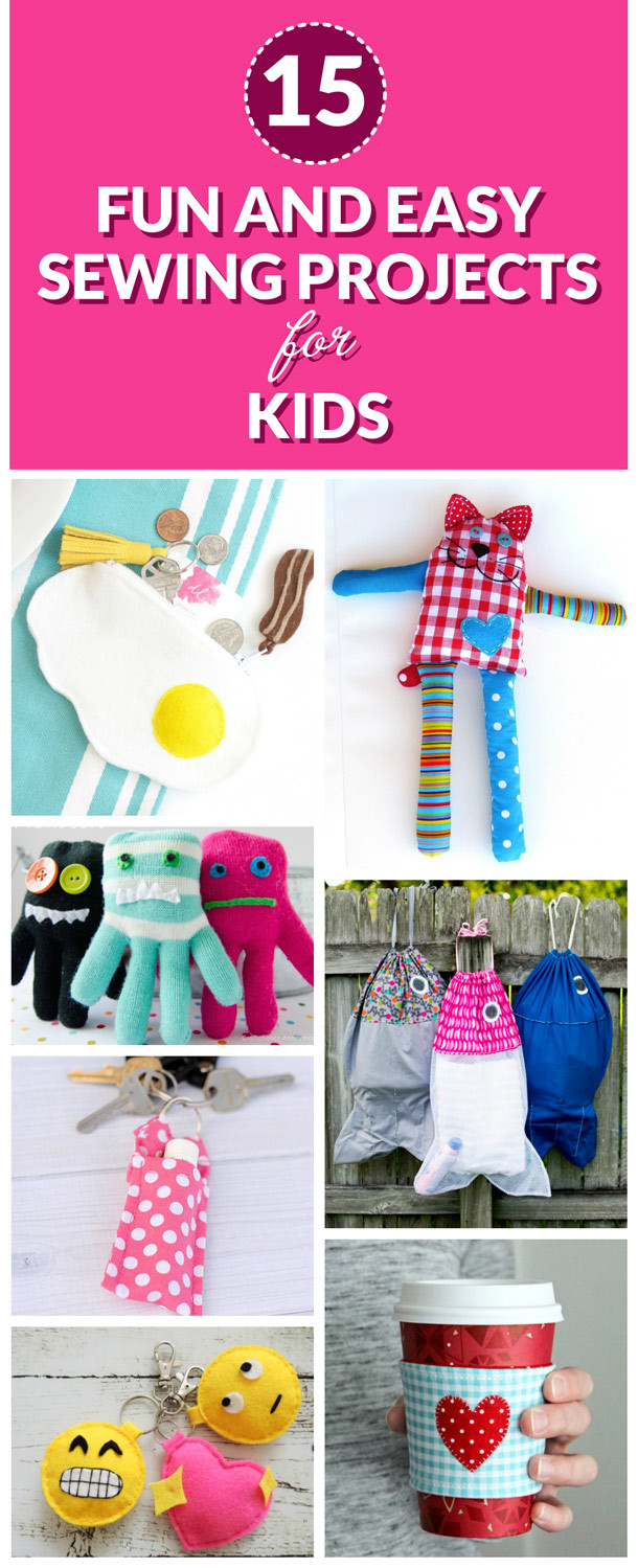 Fun Kids Projects  15 Fun and Easy Sewing Projects for Kids Dabbles & Babbles