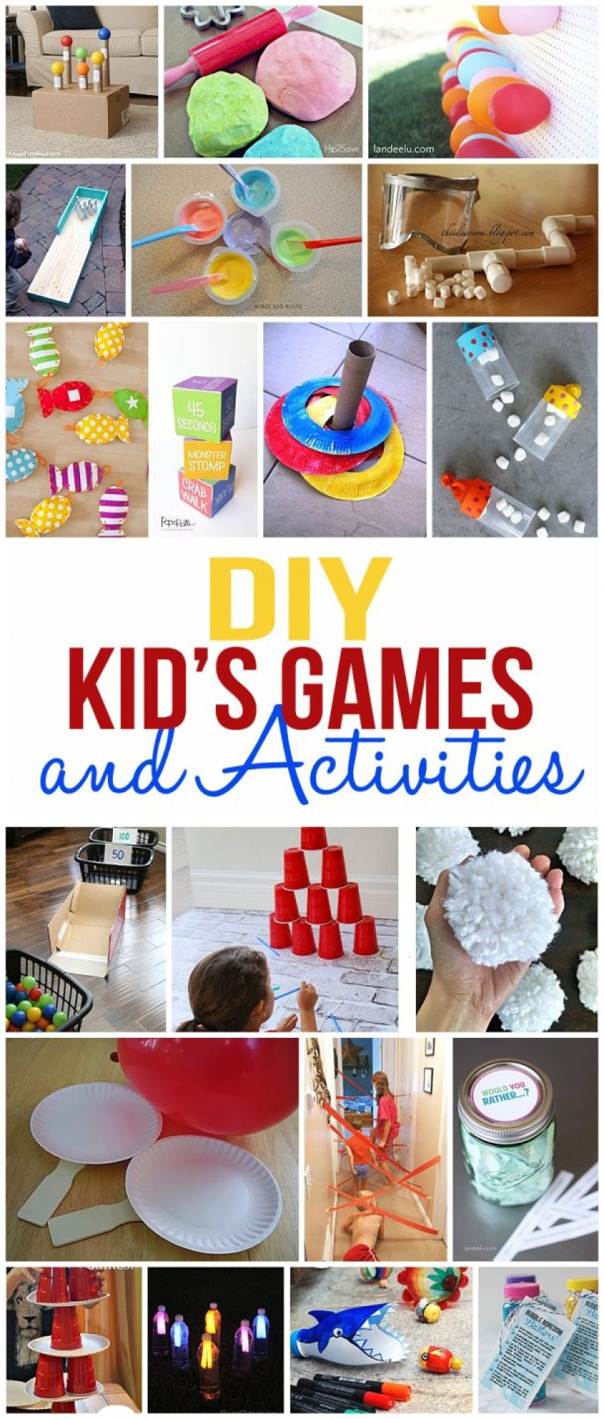 Fun Kids Projects  DIY Kids Games and Activities for Indoors or Outdoors