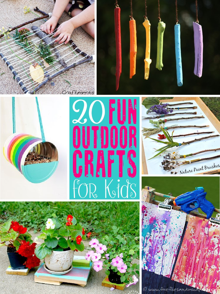 Fun Projects For Kids  20 Fun Outdoor Craft Ideas for Kids The Scrap Shoppe