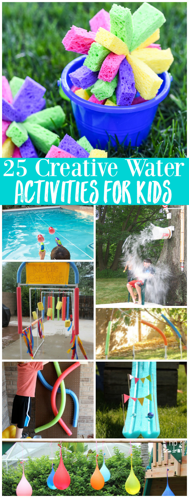 Fun Projects For Kids  25 Creative Water Activities for Kids