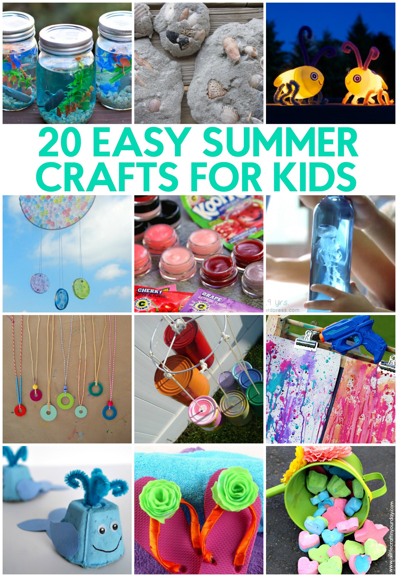 Fun Projects For Kids  20 Easy Summer Crafts for Kids A Little Craft In Your