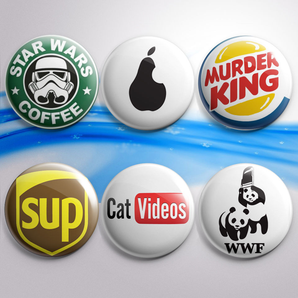 """Funny Pins  1 5"""" American Brand Paro s Funny Pinback Buttons Pin"""