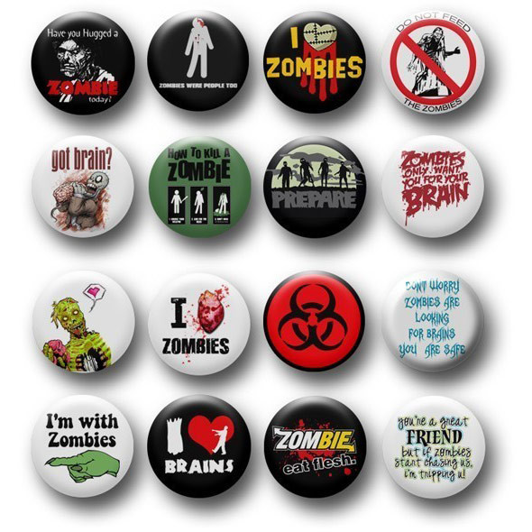 Funny Pins  Funny Zombie Pins Buttons
