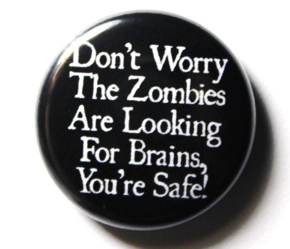 Funny Pins  Funny Zombie Button PIN or MAGNET