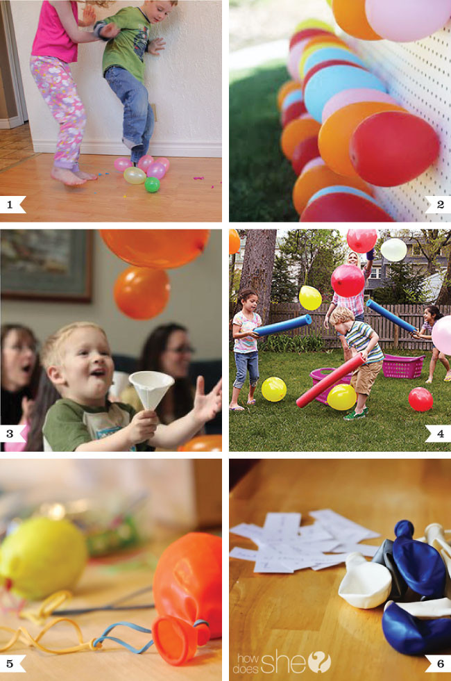 Games For Kids Bday Party  Balloon party game ideas