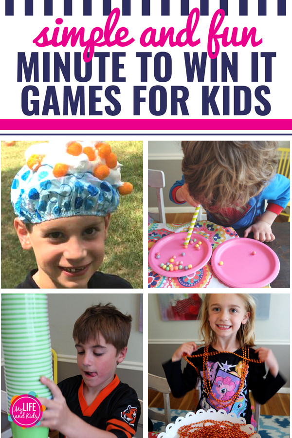 Games For Kids Bday Party  Minute to Win It Pizza Party My Life and Kids