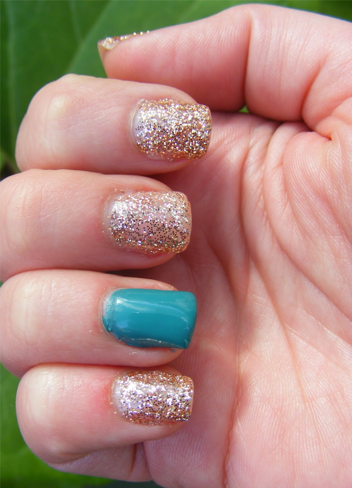Gel Glitter Nails  Cosette s Beauty Pantry Nails The Day NOTD Glitter