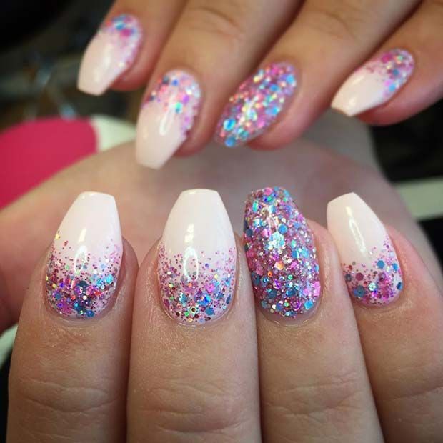 Gel Glitter Nails  23 Gorgeous Glitter Nail Ideas for the Holidays