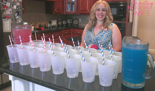 Gender Release Party Ideas  Our Big Gender Reveal Party The Vintage Modern Wife