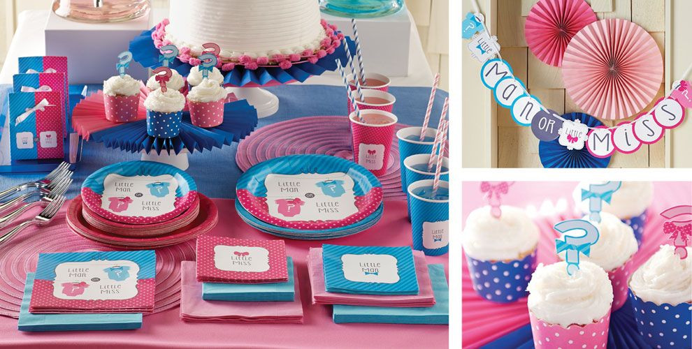 Gender Release Party Ideas  Little Man Little Miss Gender Reveal Party Supplies