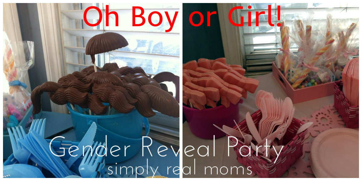 Gender Release Party Ideas  oh boy or girl gender reveal party Simply Real Moms