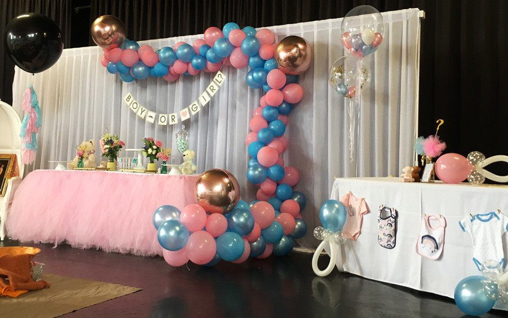 Gender Reveal Party Ideas Balloons  Helium Balloons Decoration Auckland