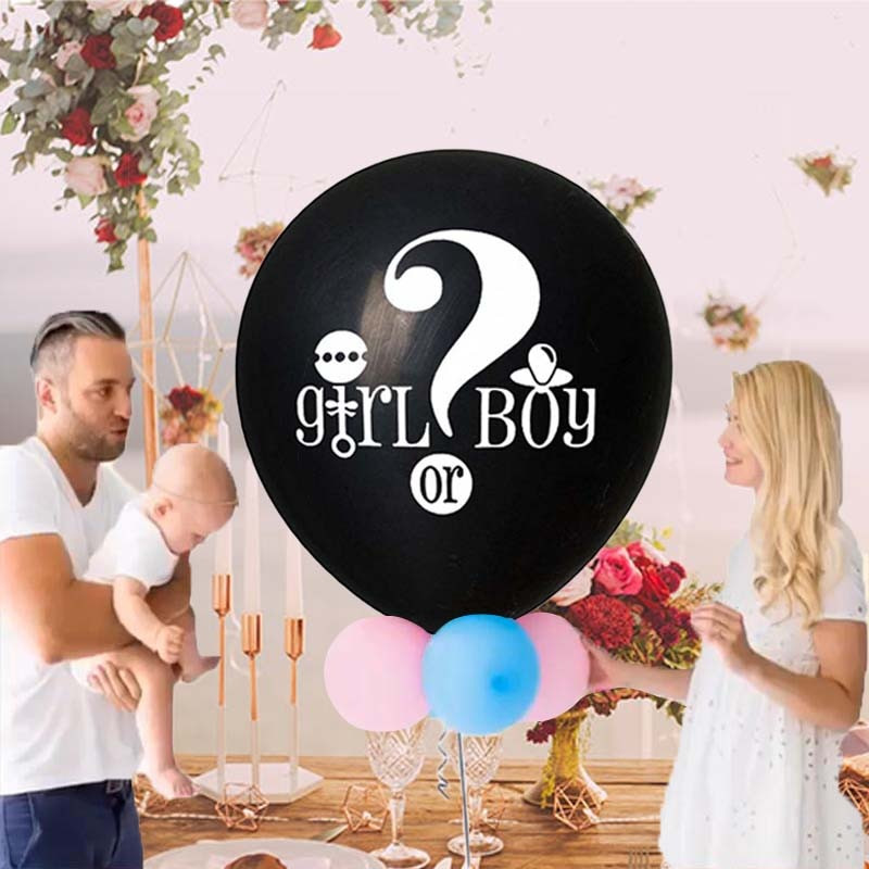 Gender Reveal Party Ideas Balloons  36 Inch Black Gender Reveal Balloon Boy or Girl Gender