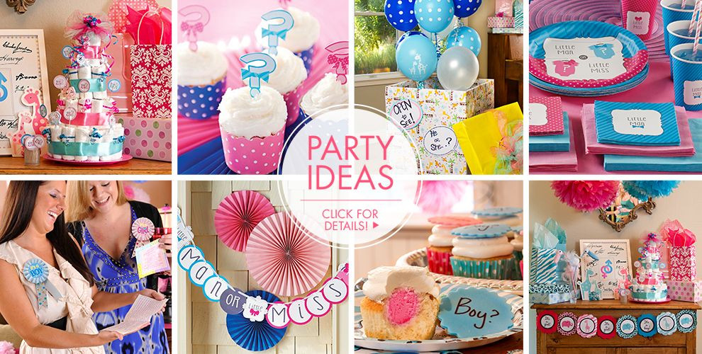 Gender Reveal Party Ideas Party City  Gender Reveal Party Supplies Invitations & Decorations