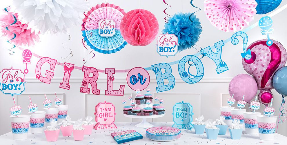 Gender Reveal Party Ideas Party City  Girl or Boy Gender Reveal Party Supplies Party City