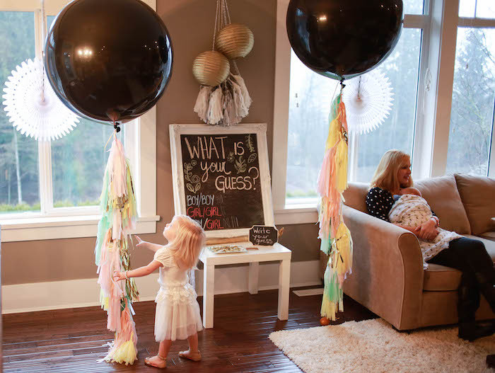Gender Reveal Party Ideas Twins  Kara s Party Ideas Boho Inspired Twins Gender Reveal Party
