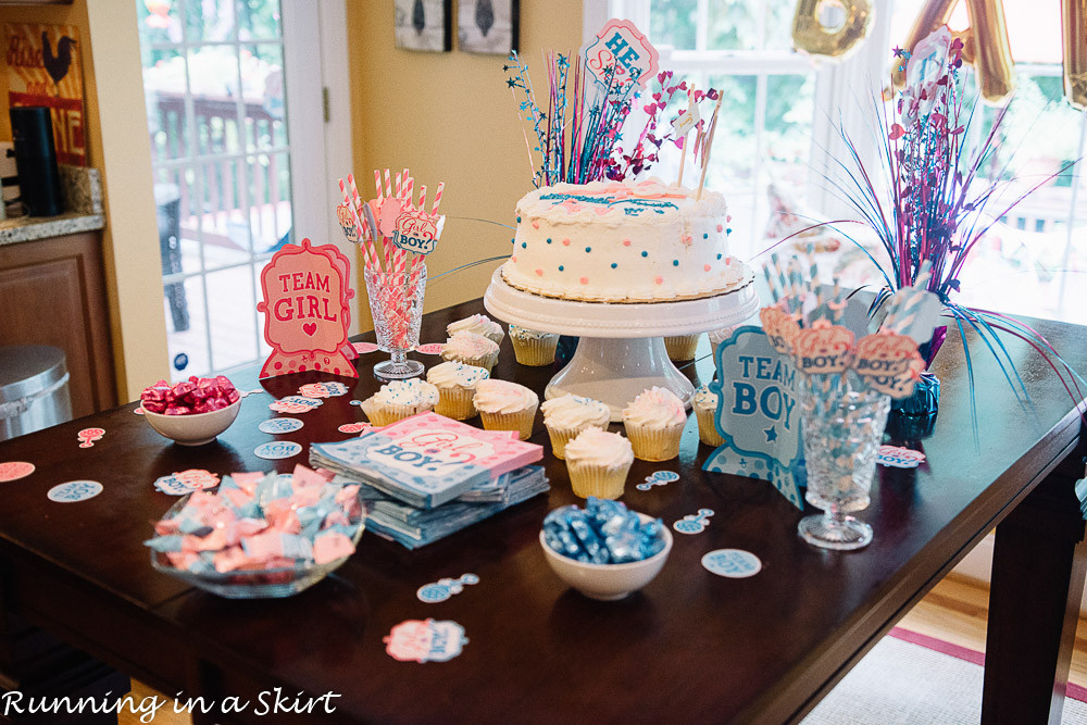 Gender Reveal Party Ideas Twins  The Cutest Gender Reveal Party for Twins Running in a Skirt