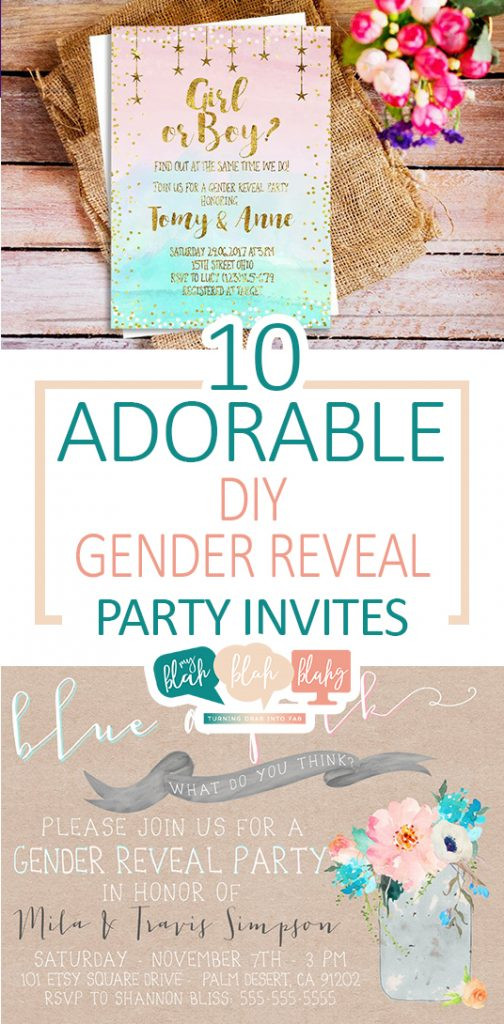 Gender Reveal Party Invitation Ideas  10 Adorable DIY Gender Reveal Party Invites