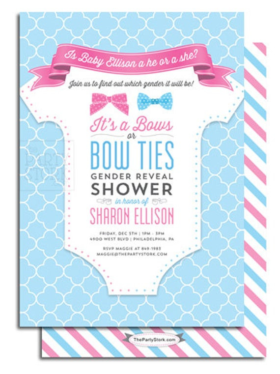 Gender Reveal Party Invitation Ideas  Gender Reveal Party Invitations Party Ideas Baby by