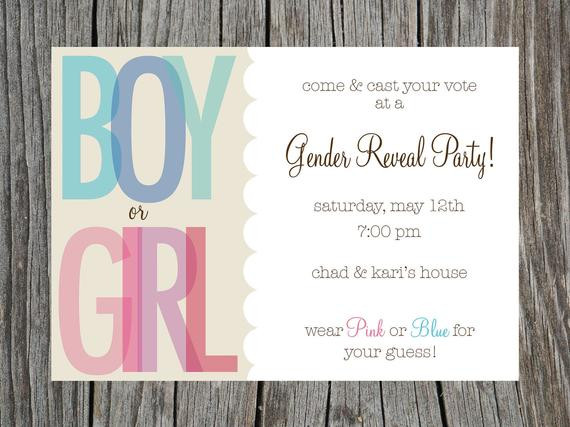 Gender Reveal Party Invitation Ideas  Items similar to Gender Reveal Party Invitation Printable