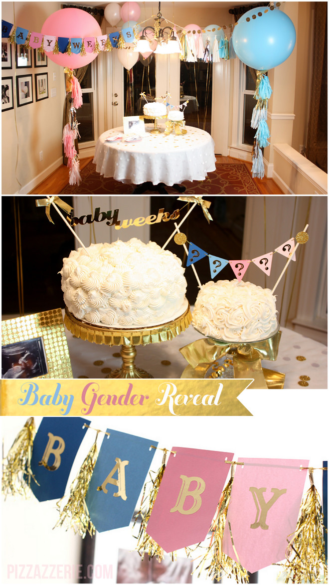 Gender Reveal Party Theme Ideas  Pops of Gold Gender Reveal Party