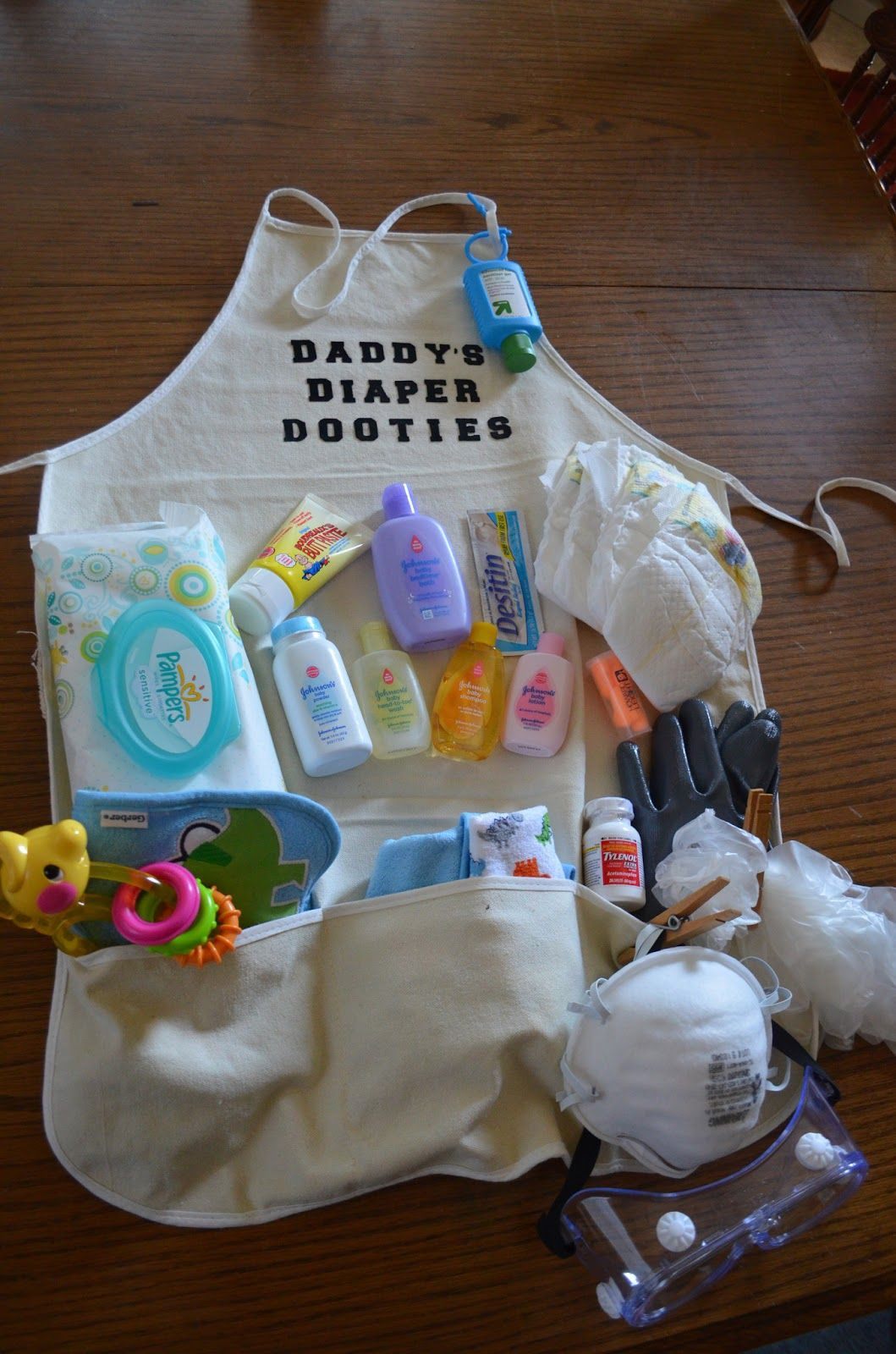 Gift Ideas For Dad From Baby Girl  A diaper apron t Cute for first time dads