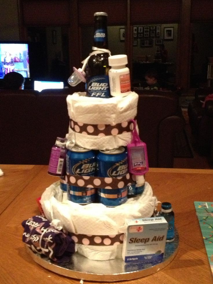 Gift Ideas For Dad From Baby Girl  Diaper cake for new dad