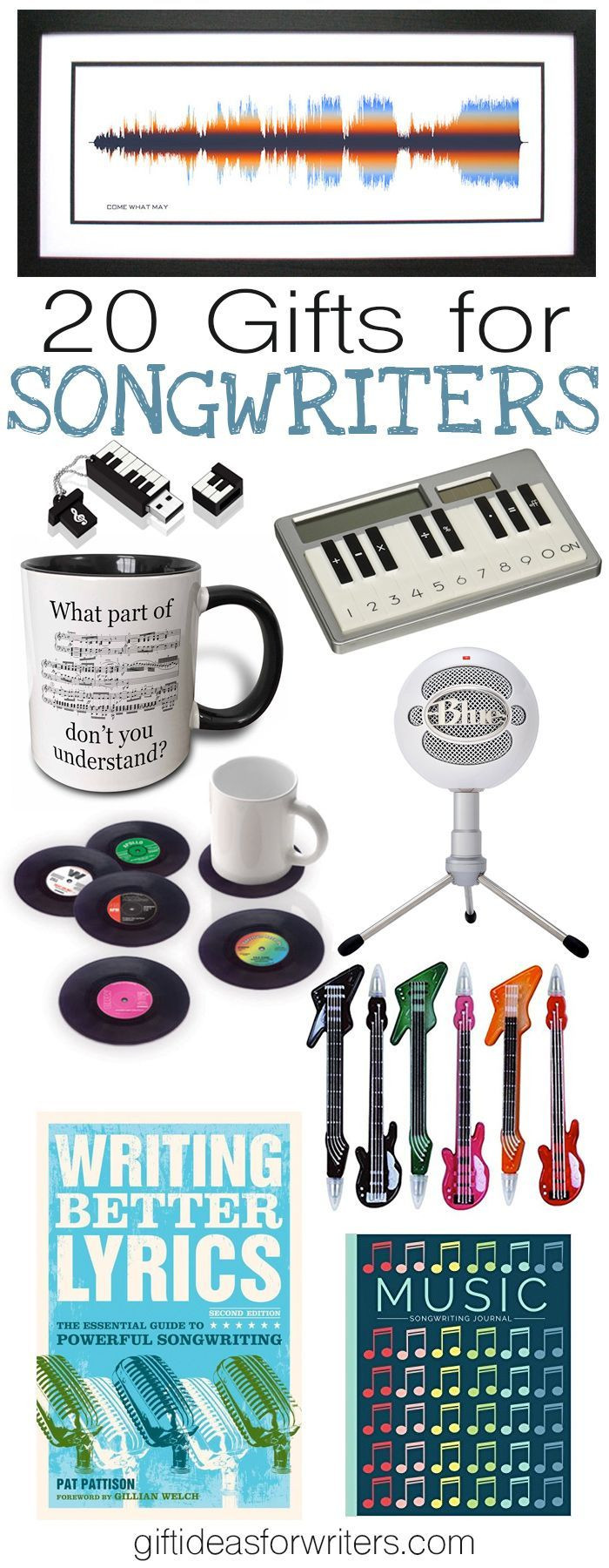 Gift Ideas For Musician Boyfriend  20 Gifts for Songwriters