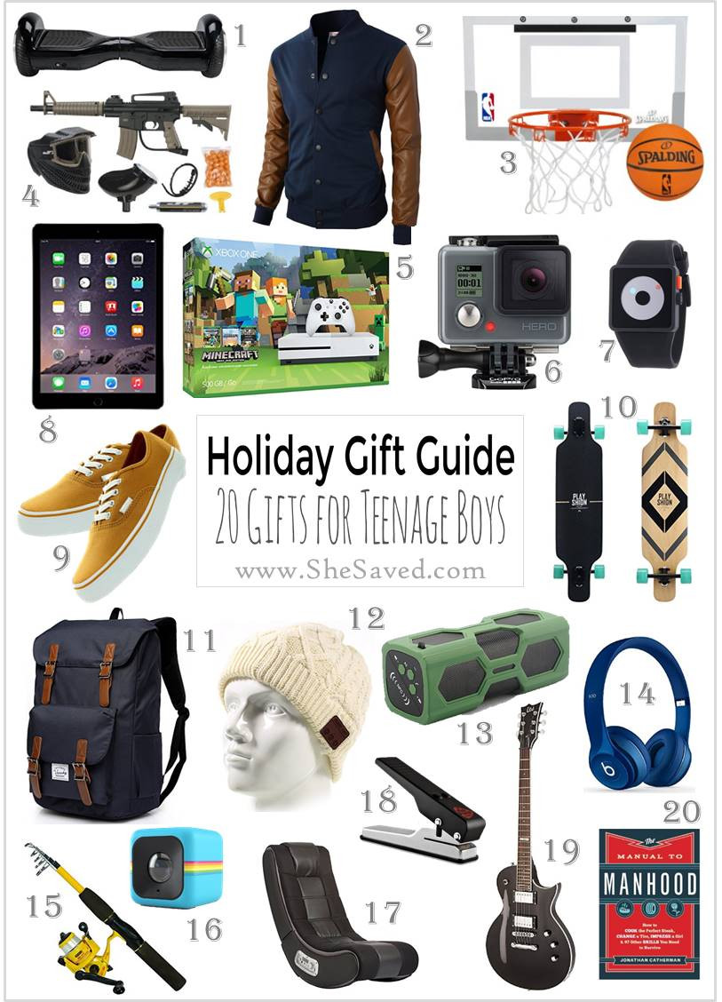 Gift Ideas Teen Boys  HOLIDAY GIFT GUIDE Gifts for Teen Boys SheSaved