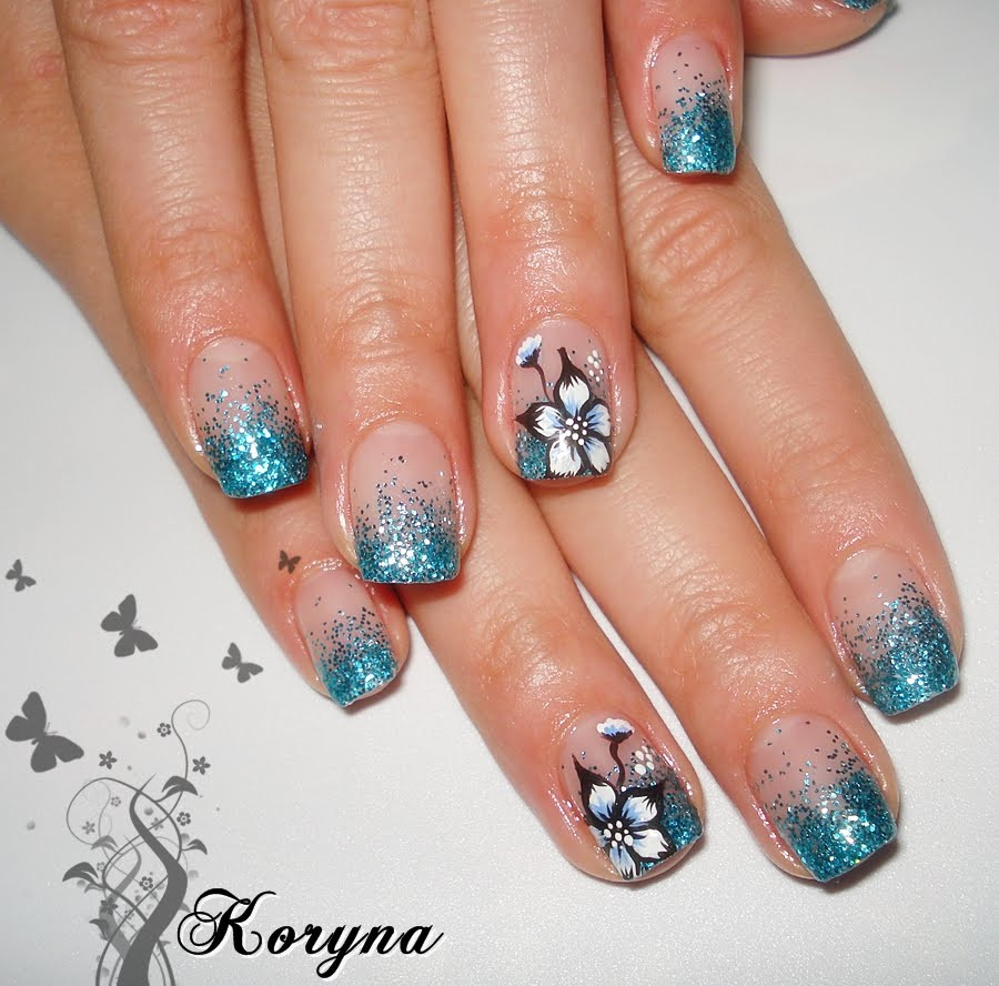 Glitter Gel Nails Pictures  My Nails Glitter uv gel nails