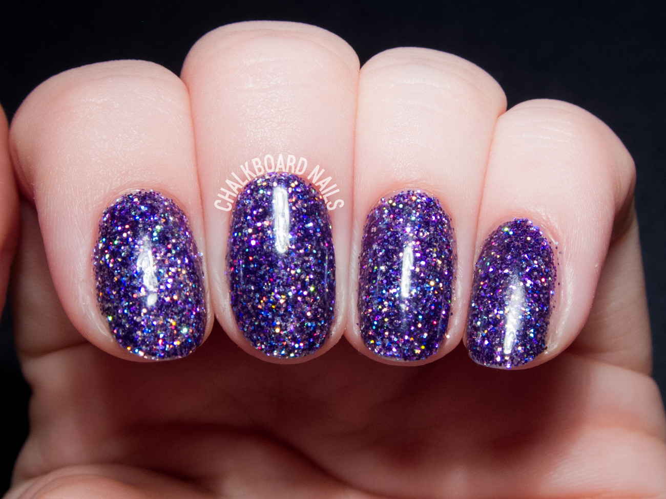 Glitter Gel Nails Pictures  How To Party Like a Rockstar In Purple Glitter Gels