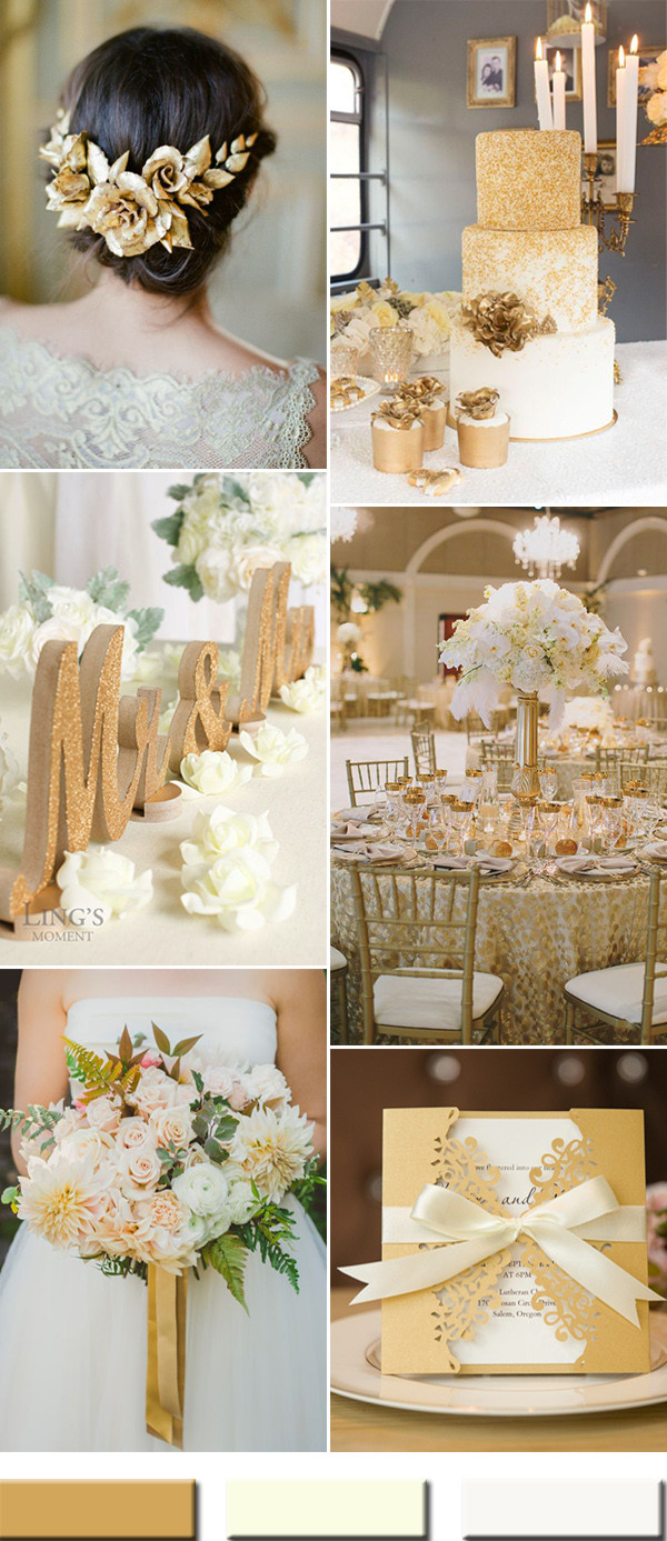 Gold Themed Wedding  2017 the Best Gold Wedding Colors bos Trends – Stylish