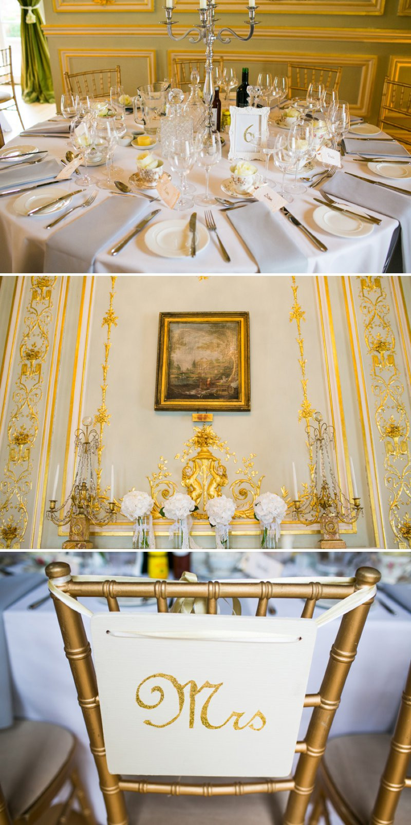 Gold Themed Wedding  An Elegant Gold Themed Wedding At Fetcham Park With Bride