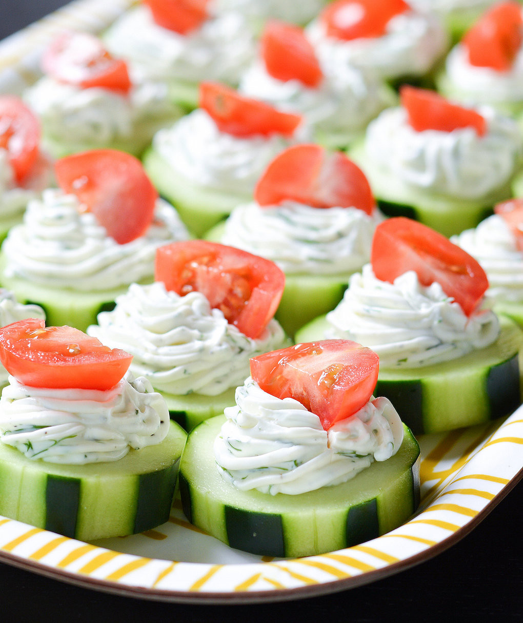 Graduation Party Appetizer Ideas  Dilly Cucumber Bites