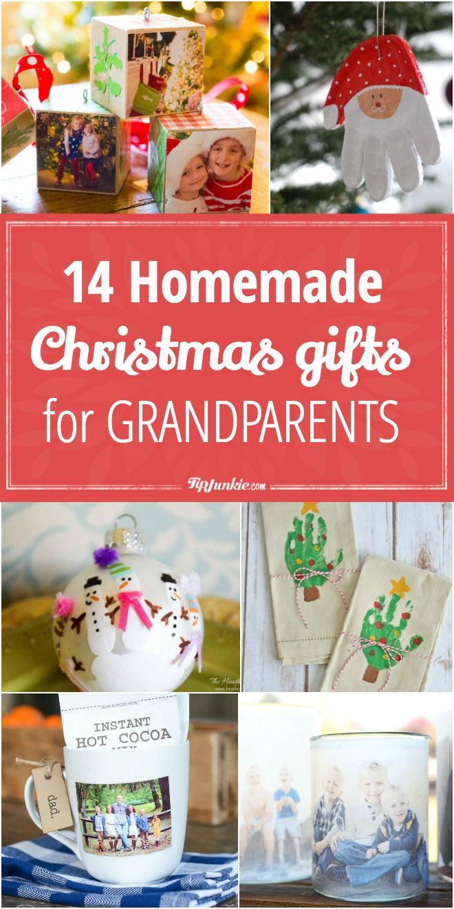Grandpa Gift Ideas From Baby  14 Homemade Christmas Gifts for Grandparents