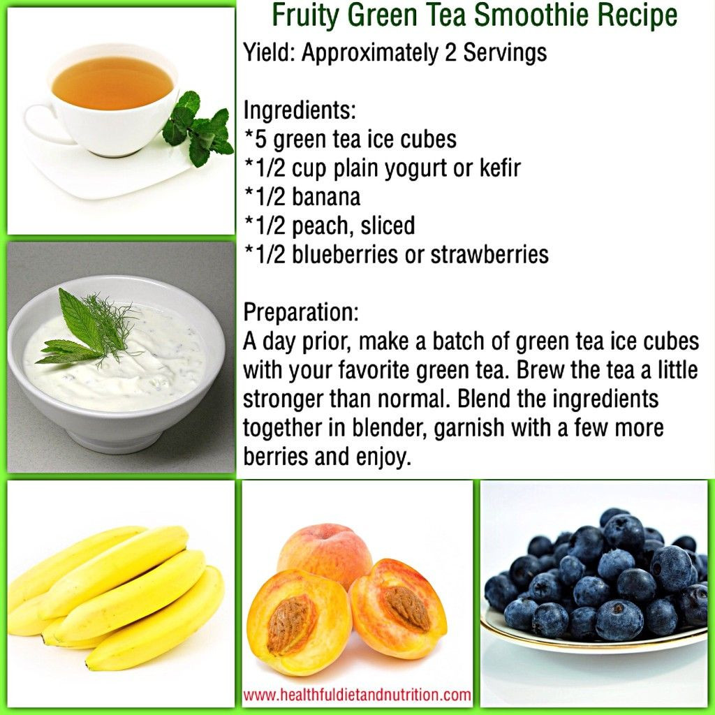 Green Tea Smoothies For Weight Loss  Fruity Green Tea Smoothie Recipe