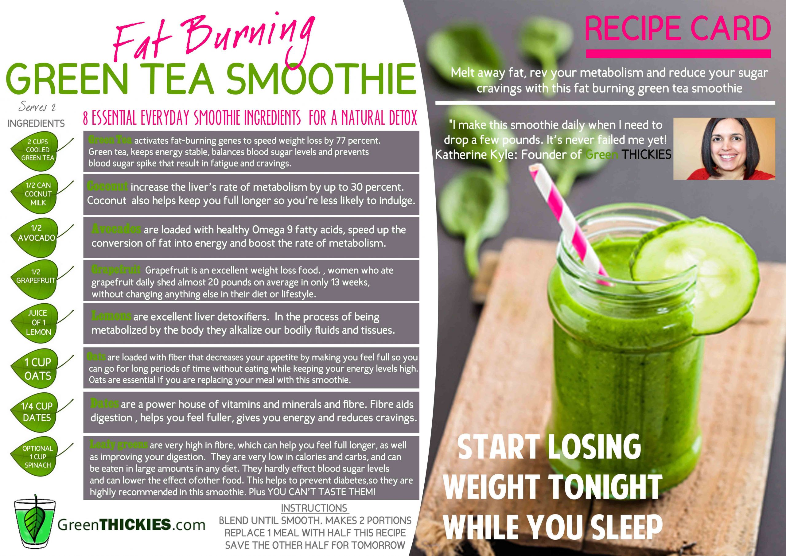 Green Tea Smoothies For Weight Loss  How I lost 56 Pounds with the Green Smoothie Diet and
