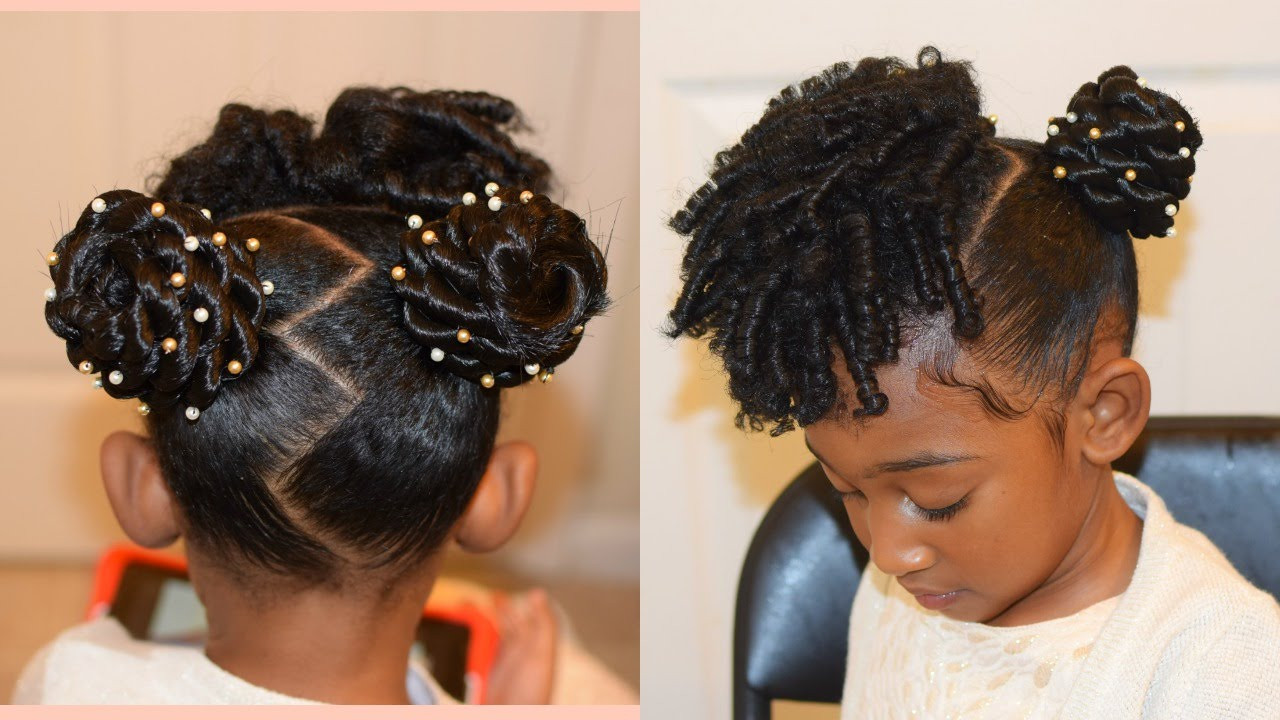 Hair Styles For Children  KIDS NATURAL HAIRSTYLES THE BUNS AND CURLS Easter