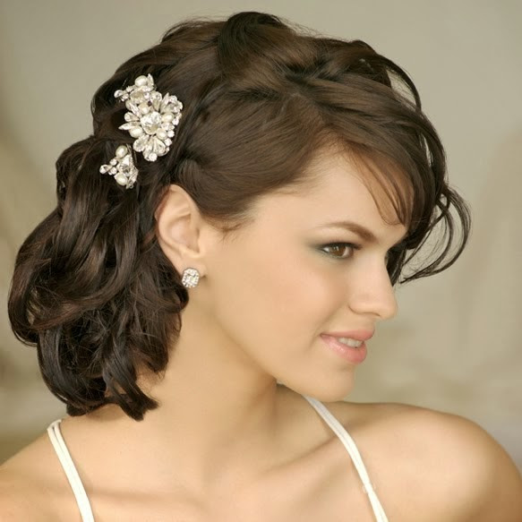 Hairstyles For Shoulder Length Hair For Wedding  Wedding Hairstyles Medium Length Wedding Hairstyles