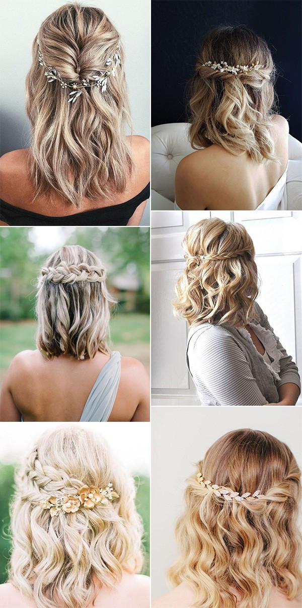 Hairstyles For Shoulder Length Hair For Wedding  20 Medium Length Wedding Hairstyles for 2021 Brides