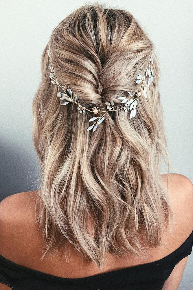 Hairstyles For Shoulder Length Hair For Wedding  25 ELEGANT WEDDING HAIRSTYLES FOR GENTLE BRIDES My