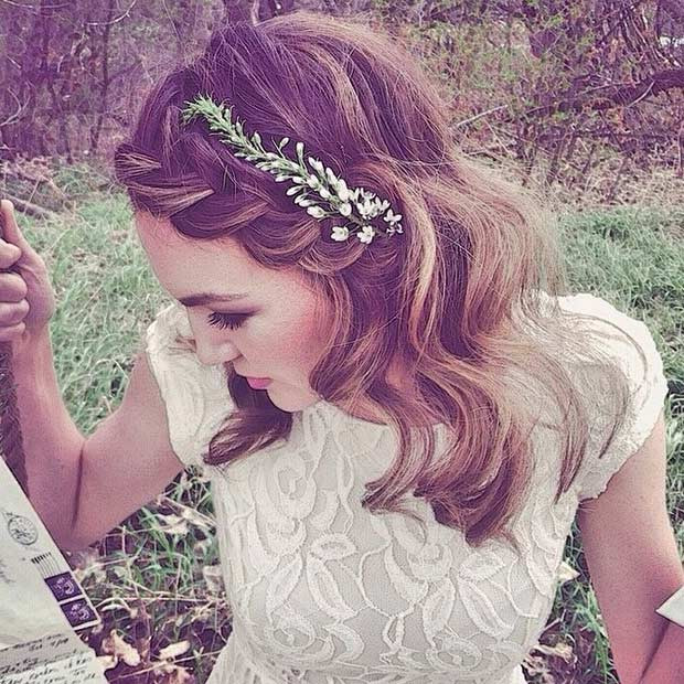 Hairstyles For Shoulder Length Hair For Wedding  31 Wedding Hairstyles for Short to Mid Length Hair