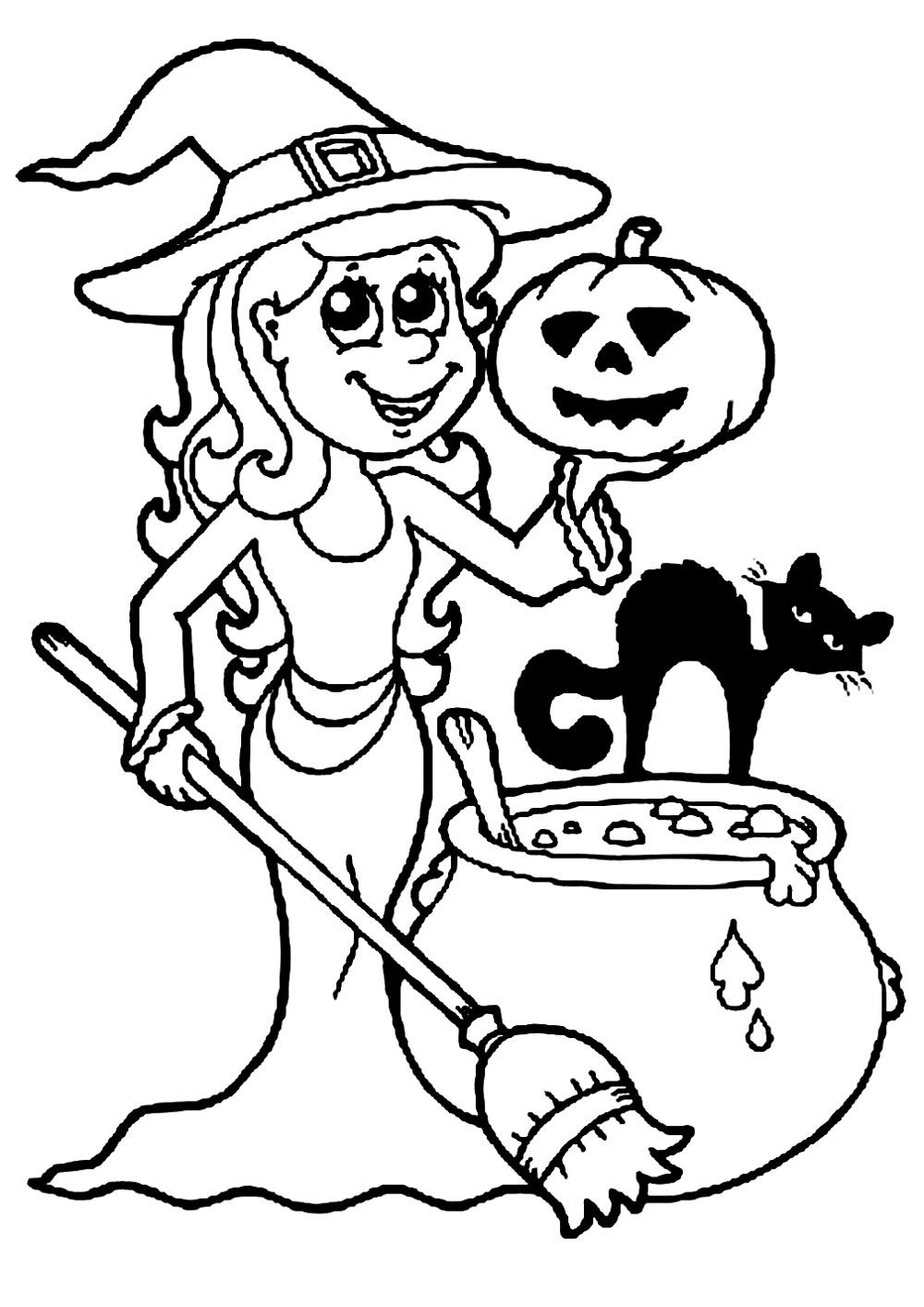 Halloween Coloring Sheets For Kids  Halloween free to color for kids Halloween Kids Coloring