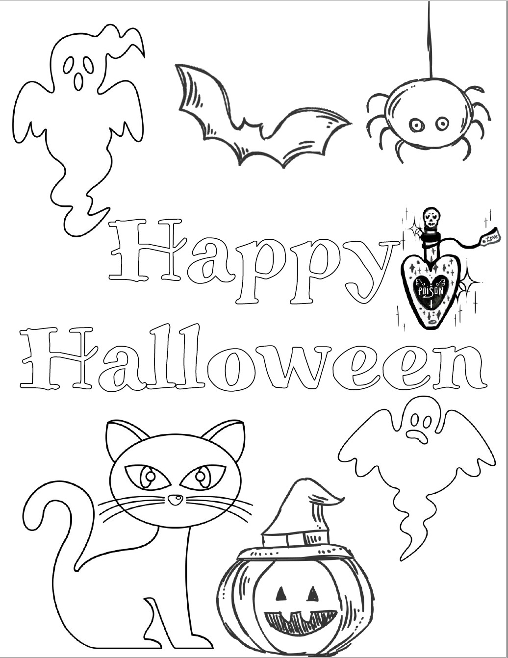 Halloween Coloring Sheets For Kids  5 Free Printable Halloween Coloring Pages for Kids