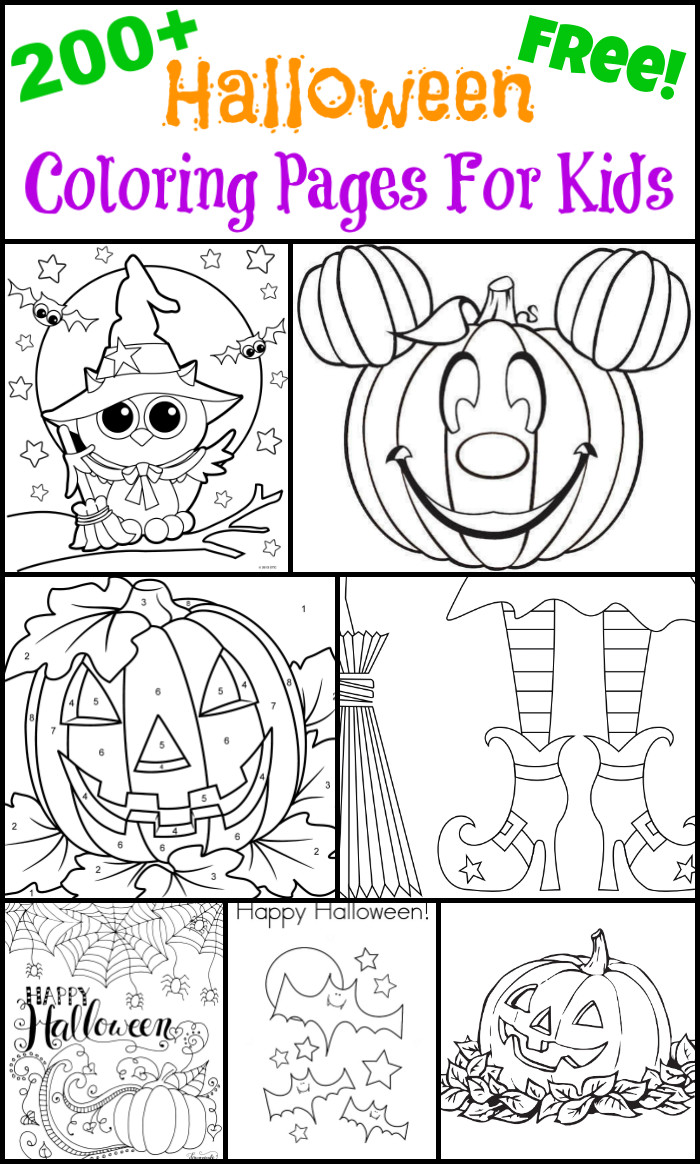 Halloween Coloring Sheets For Kids  200 Free Halloween Coloring Pages For Kids The Suburban Mom